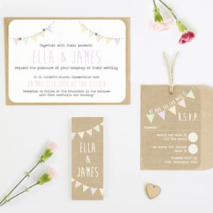 Burlap Wedding Invitation Bundle - invitations