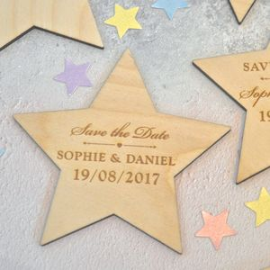 Save The Date Star Magnet - new in wedding styling