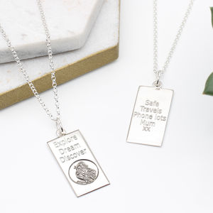 Sterling Silver St Christopher Dog Tag Necklace - necklaces & pendants