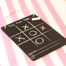Tic Tac Toe Noughts And Crosses Blackboard Game