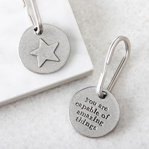 'Amazing Things' Star Keyring - gifts for her
