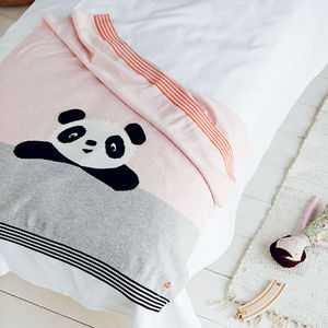Poe' Cotton Cashmere Panda Baby Blanket - gifts for babies & children