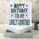 Personalised Godfather Birthday Book Card
