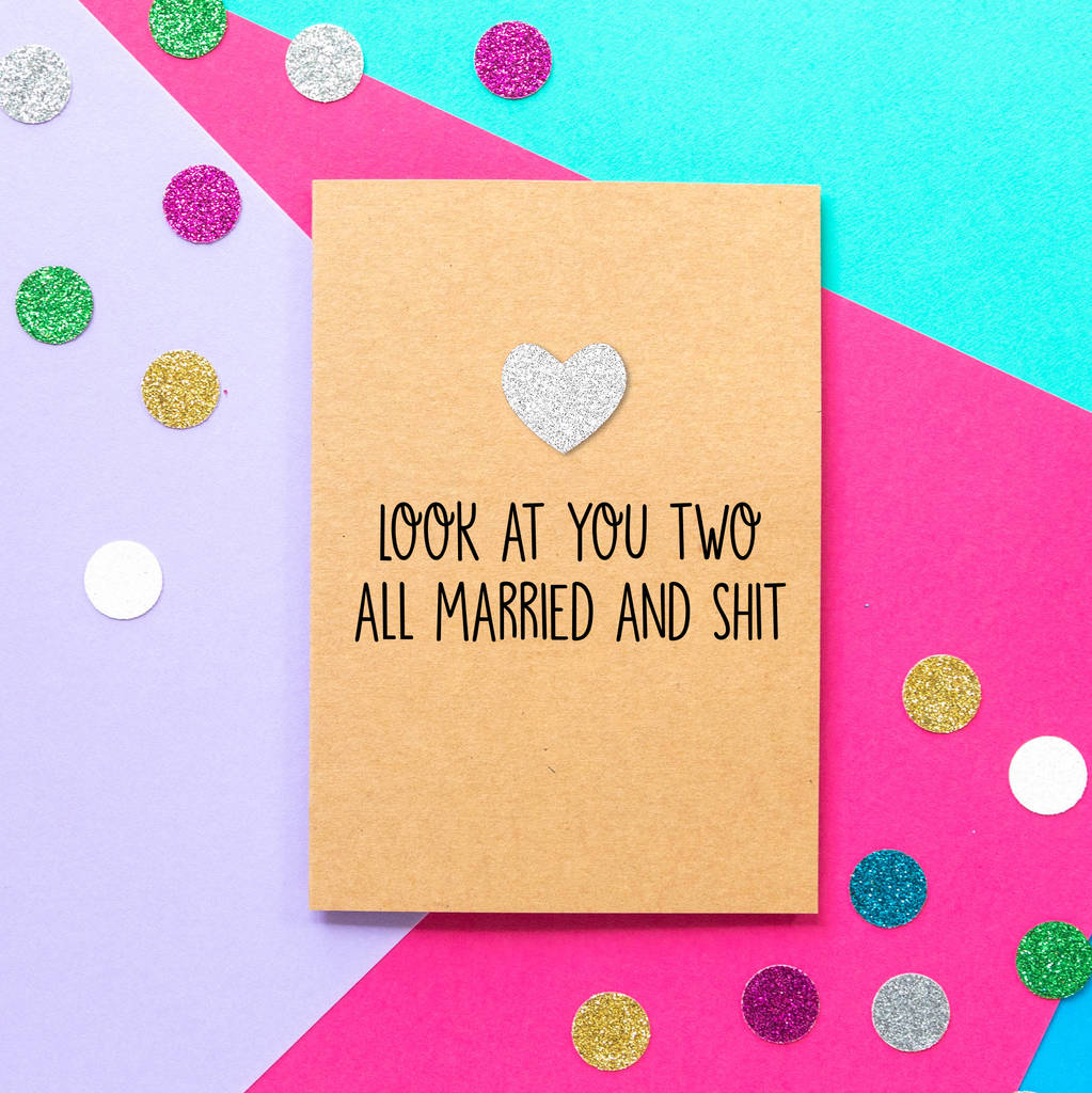 'Look At You Two' Funny Wedding Card