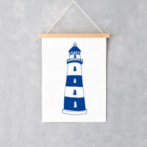 Nautical Lighthouse A4 Print