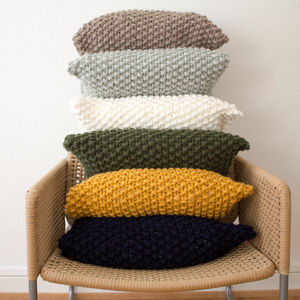 Strikk Hand Knit Chunky Stitch Cushion