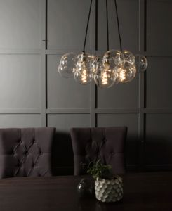 Bubble Chandelier Light Three Point - living room