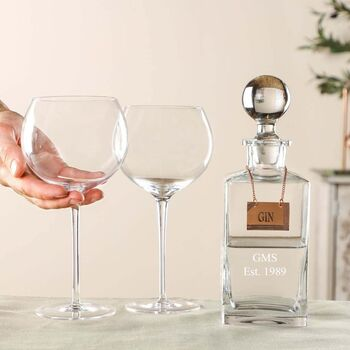 Personalised Gin Decanter And Glasses
