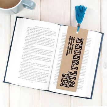 Personalised Teacher Bookmark For Him