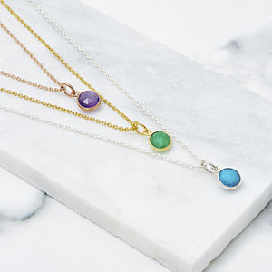 Birthstone Necklace With Optional Initial Charm - view all fine jewellery