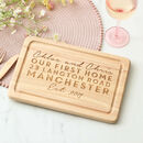 Personalised First Home Chopping Board