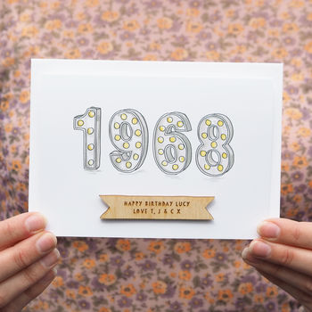 Personalised 'Year You Were Born' Birthday Card