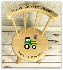 Personalised Wooden Chair - baby's room