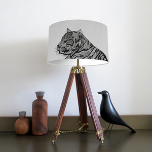 Tiger Lampshade With Fifteen Fabric Colour Options - lampshades