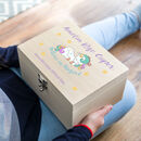 Personalised Believe In Magic Unicorn Keepsake Box