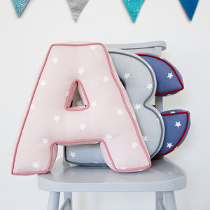 Personalised Star Letter Cushion - baby's room