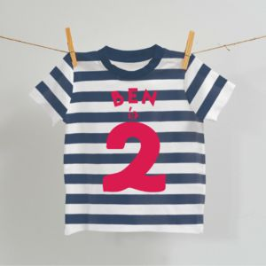 Personalised Birthday T Shirt For Baby - clothing