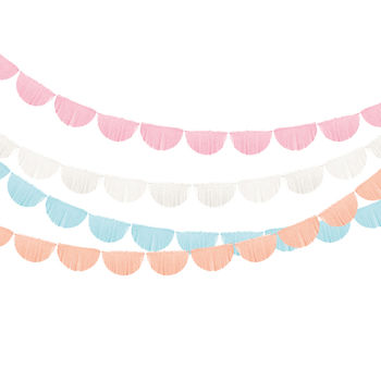 Scallop Fringe Party Garland Decoration