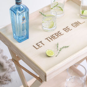 Personalised Deluxe L S A Bar Table And Glassware - furniture