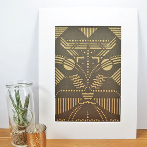 Pearlescent Art Deco Inspired Arthropodic Laser Cut - modern & abstract