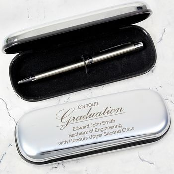 Personalised Graduation Pen/Box Gift