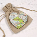 primrose hill map Personalised Location Heart Keepsake Gift For Her