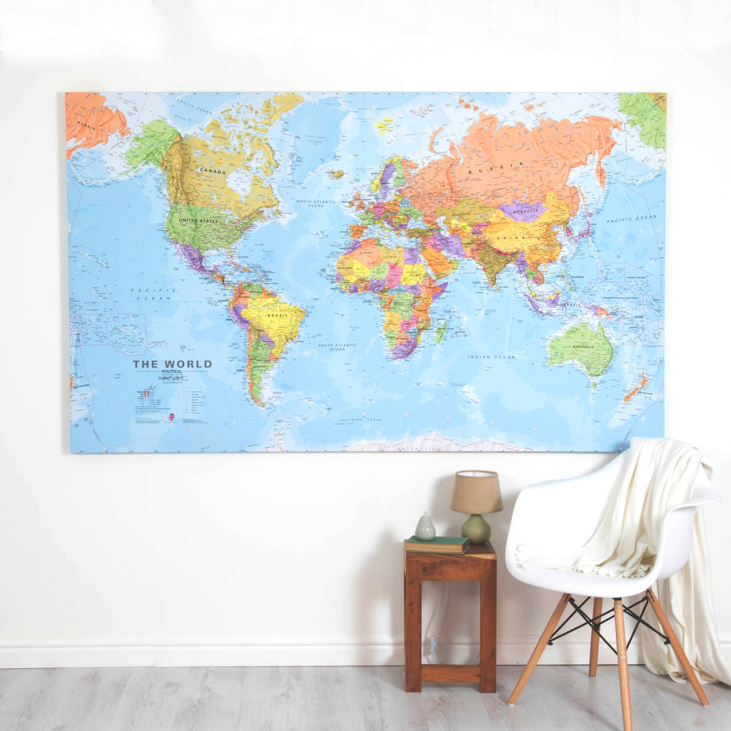 Giant canvas world map by maps international notonthehighstreet giant canvas world map publicscrutiny Images