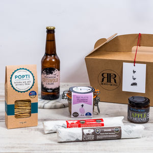 British Charcuterie Box With Beer, Ale Or Cider - food hampers