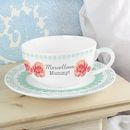 Personalised Vintage Rose Cup And Saucer
