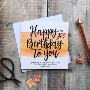 Happy Birthday Bible Verse Card