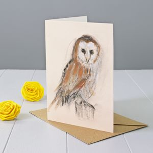 Barn Owl Art Greeting Card