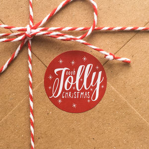Jolly Christmas Round Gift Stickers