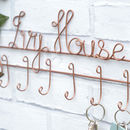 House Name Wire Key Holder