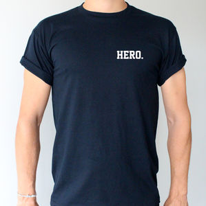 'Hero.' T Shirt - new in fashion