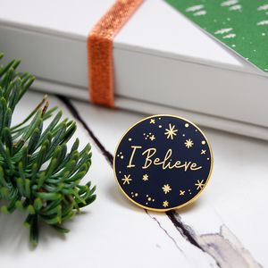 I Believe Enamel Lapel Pin Badge - winter sale