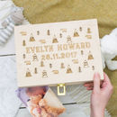 Newborn Adventure Baby Keepsake Box