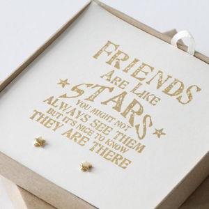 Design Your Own 'Friends Are Stars' Jewellery Gift Box - earrings