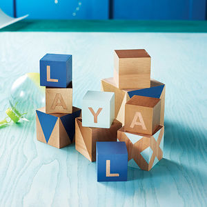 Personalised Deluxe Building Blocks In Pastels - gifts for babies