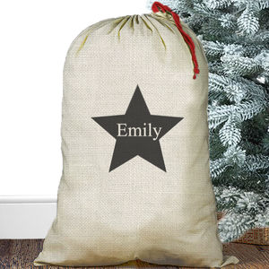 Large Personalised Christmas Sack Star - storage bags