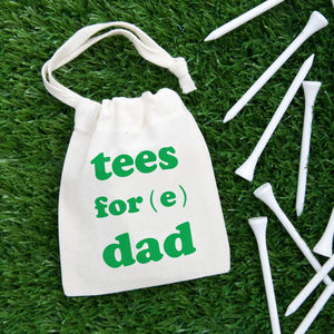 'Tees Fore' Personalised Golf Bag With Tees - new in home