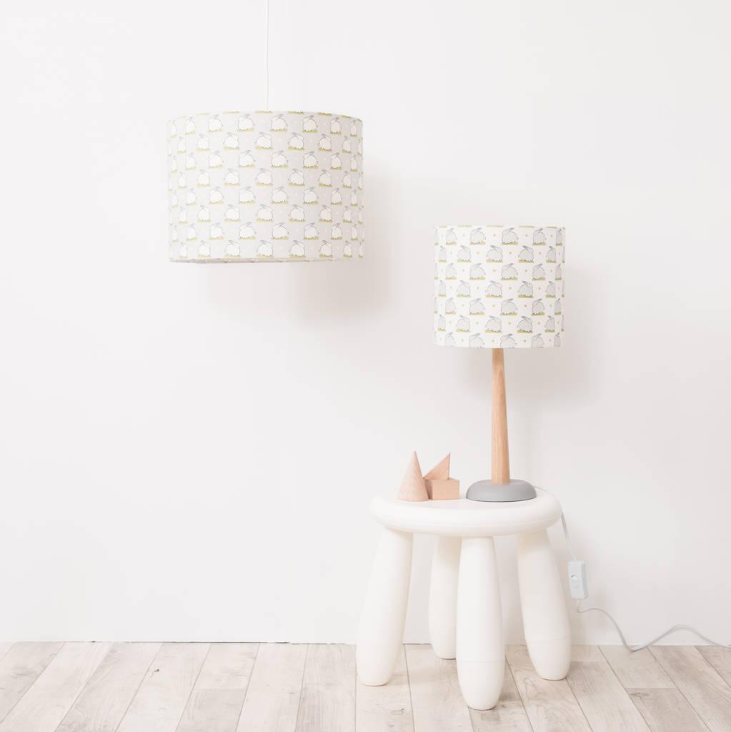 Bunny Linen Nursery Lampshade By Elm Tree Studio