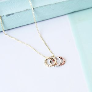 Small Circle Trio Necklace