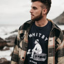 'Whitby Seafarer' Hand Printed Navy T Shirt