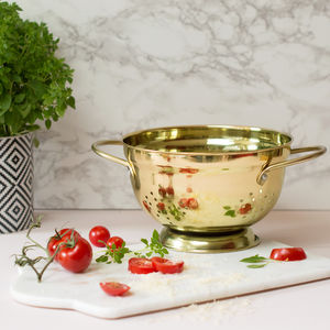 Gold Colander - cooking & food preparation