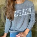 Grey Multi Star Cashmere Jumper