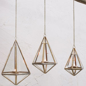Brass Hanging Lantern - lights & lanterns