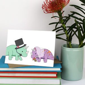 Dinosaur Wedding Card - wedding cards