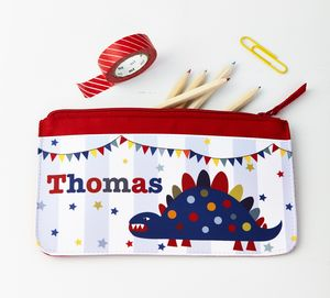 Boys Personalised Dinosaur Pencil Case