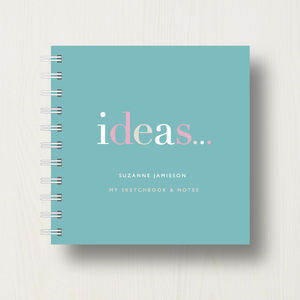 Personalised 'Ideas' To Do Small Notebook