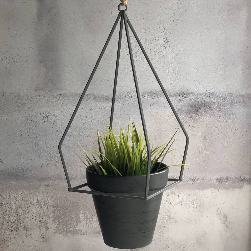 Geometric Hanging Plant Pot By The Contemporary Home Notonthehighstreet